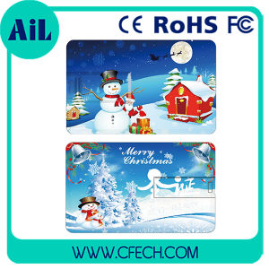 Christmas Credit Card USB Flash Drive USB Disk Made in China Hot Selling