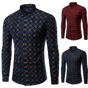 Mens Slim Fit Regular Button Dress Shirts (A436)