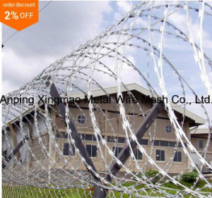 450mm to 960mm Coil Diamater Concertina Razor Barbed Wire (BTO-22) pictures & photos