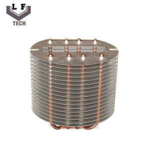 LED Heat Pipe Radiator Metal Stamping Parts Copper Pipe Heat Sink