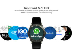 3G WiFi Smart Watch Phone with Heart Rate Monitor Dm368 pictures & photos