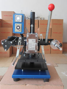 Small Manual Hot Stamping Machine for Shoes Logo pictures & photos