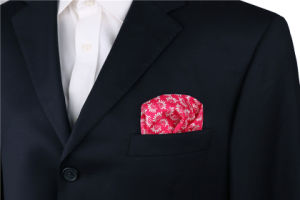 Fashionable Silk Polyester Printed Plaid Dots Flower Printed Pocket Square Hanky Handkerchief pictures & photos