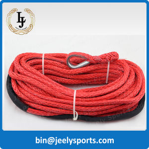 Dyneema UHMWPE Fiber Synthetic Winch Rope with a Hook and Sleeve