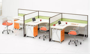 3 Seats Ergonomic Professional Useful Office Computer Workstation Furniture (HF-LTP007) pictures & photos