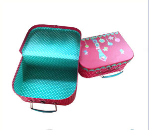 Wholesale Paper Suitcase Shape Lunch Box with Cheaper Price pictures & photos