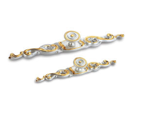 Golden & Ivory Finish Zinc Alloy Cabinet Handle Ah-1124 pictures & photos