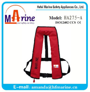 Red Color 150n Inflatable Water Sport Life Vest pictures & photos