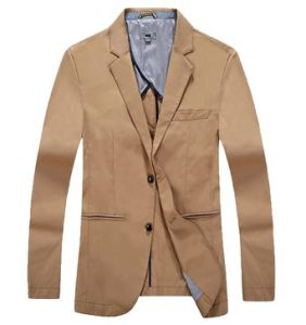 Men′s Pure Color Blazer Modern 2 Button Causal Coats Blazer pictures & photos