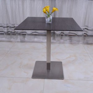 Stainless Steel Leg Laminated Top Table Furniture for Restaurant Club Hotel pictures & photos