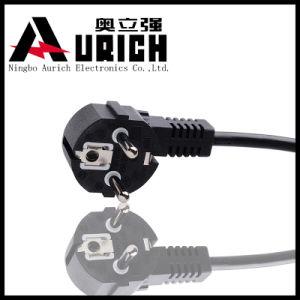 Rihgt Angle EU Power Cord with Schuko Plug