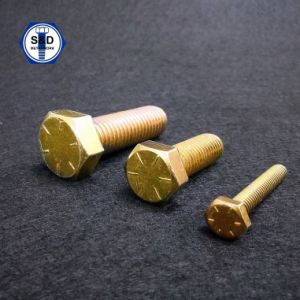 SAE J429 Gr. 8 Zinc Yellow Hex Head Bolts pictures & photos