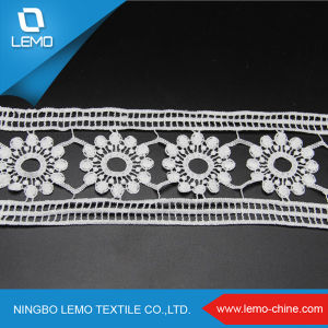 French Chemical Embroidery Floral Dress Lace pictures & photos