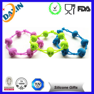 Custom Swirl Silicone Wristband with Website Logo, Rubber Band pictures & photos