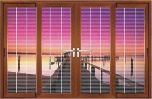 Energy Saving Exquisite Craft Aluminum Sliding Window pictures & photos