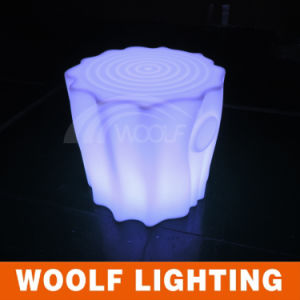 Small Plastic LED Stool Light up Tree Stump Shape Seat Chair pictures & photos