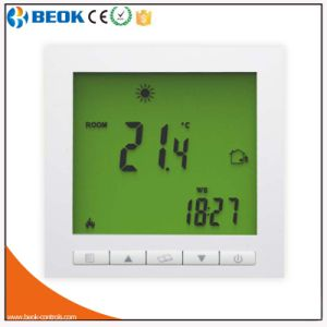 HVAC Theory Green Backlight LCD Screen Heating Thermostat pictures & photos