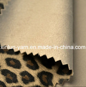 Leopard Jacquard Printed Brushed Suede Fabric for Garment/Bag/Shoes pictures & photos