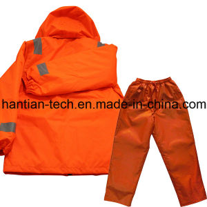 Orange Safety and Buoyance Overall Work Clothes for Working on Board (HTFZ006) pictures & photos