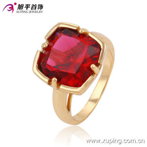 Fashion Zircon Copper Bbrass Alloy Plating Gold College Jewelry Finger Ring for Women -13527 pictures & photos