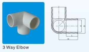 ASTM Sch40 Plastic Fittings 4 Way Elbow pictures & photos