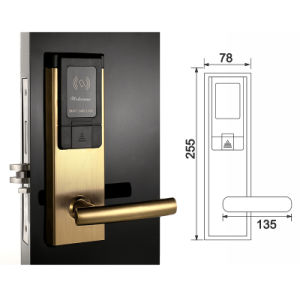 Electronic Hotel Door Lock RFID Card Smart Lock with Hotel Software pictures & photos