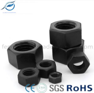 Black High Strength Carbon Steel Hex Nut pictures & photos