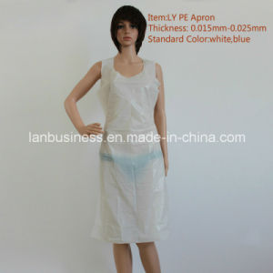 Ly Stamping Forming Disposable PE Apron (LY-PEA-W) pictures & photos