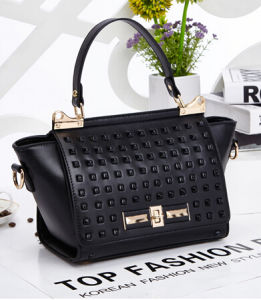 Rivets Style Bags PU Leather Designer Handbags (XP1254) pictures & photos