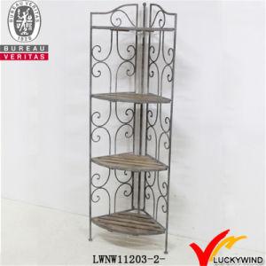 Metal & Wood Foldable Corner Rack pictures & photos