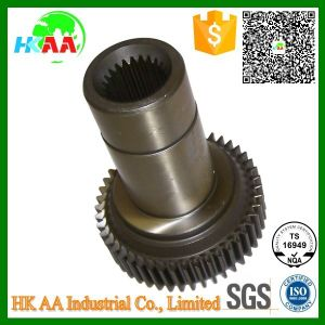 Custom Precision CNC Machined Steel Truck Transmission Input Shaft Main Drive Gear for Automotive with Ts16949 Certification pictures & photos
