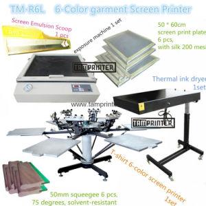 TM-R6k T-Shirt Textile 6-Color Screen Printing Machine pictures & photos