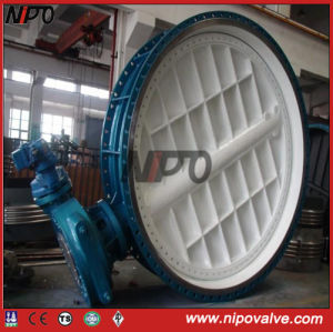 Cast Steel Flanged Butterfly Valve pictures & photos