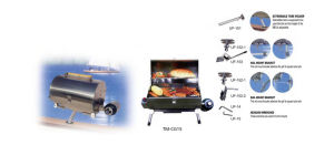 Camping BBQ Gas Grill with Rail Mount Bracket pictures & photos