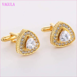 VAGULA Quality Hot Sales Gold Gemelos Zircon Cuff Links  (327) pictures & photos