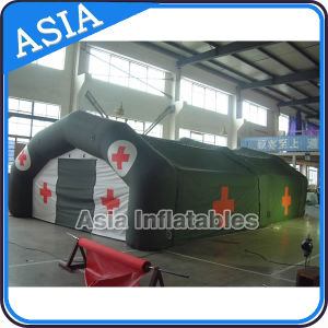 Mobile First Aid Inflatable Emergency Tent for Refugee / Army Medical Tent / Inflatable Emergency Tent Red PVC Tent pictures & photos