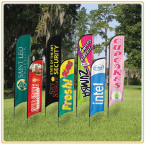 Durable Double Sided Beach Flag / Flying Flag / Feather Flag (5.5m) pictures & photos