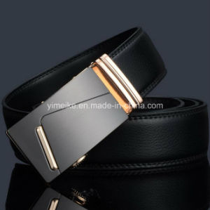 High Quality Black Business Man Genuine Leather Ratchet Belt pictures & photos