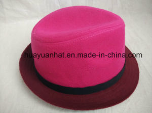 100%Wool with Rose Red Fedora Hats pictures & photos
