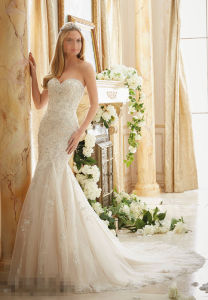 Mermaid Train Bridal Wedding Dresses pictures & photos