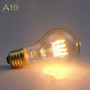 A19 40W Vintage Style Antique Edison Filament Bulb for E27 pictures & photos