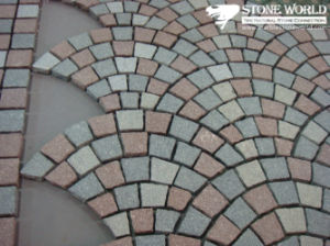 China Multicolor Fan Shape Slate Stone on Mesh, Flagstone Pavers pictures & photos