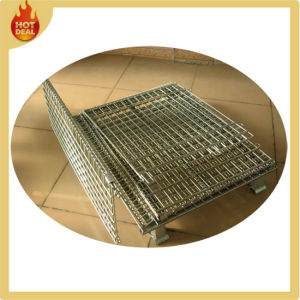 Folding Galvanize Metal Warehouse Wire Mesh Containers Cage pictures & photos