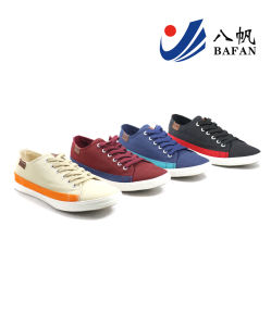 Men Fashion Casual Canvas Flat Running Travlling Shoes (bfm0385) pictures & photos
