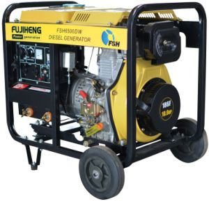 Portable Welding Type Diesel Generator 5kw with Wheels pictures & photos