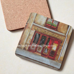 Square Printed MDF Cork Coffee Coaster Waterproof Coaster pictures & photos