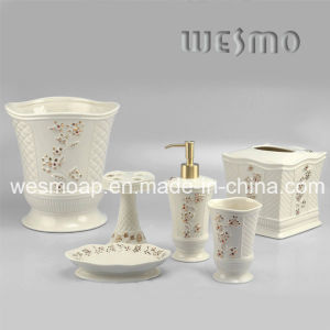 Floral Porcelain Bath Accessories Set (WBC0588B) pictures & photos