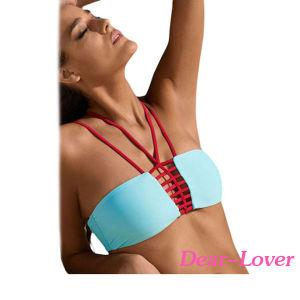 2PCS Strappy Bandeau Bikini Swimsuit pictures & photos