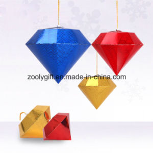 Laser Card Paper Diamond Hang Decoration Christmas Gifts Mall pictures & photos