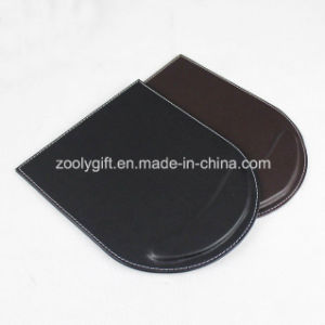 Mouse Pad with Wrist Rest Custom Personalized Black/ Brown PU Leather Mouse Pads Wholesale pictures & photos